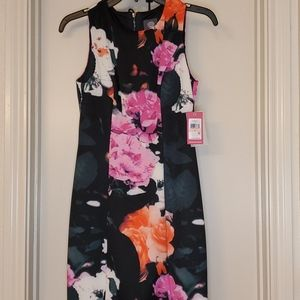 Vince Camuto - black and flower dress